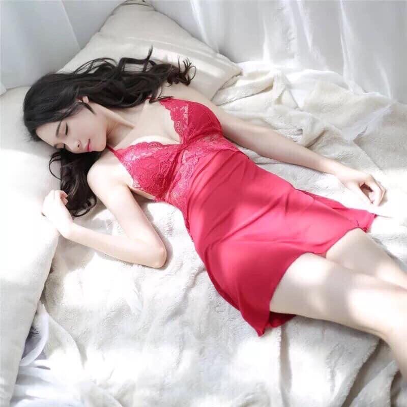 Váy Ngủ Lụa 2 Dây - T2/PB.K8