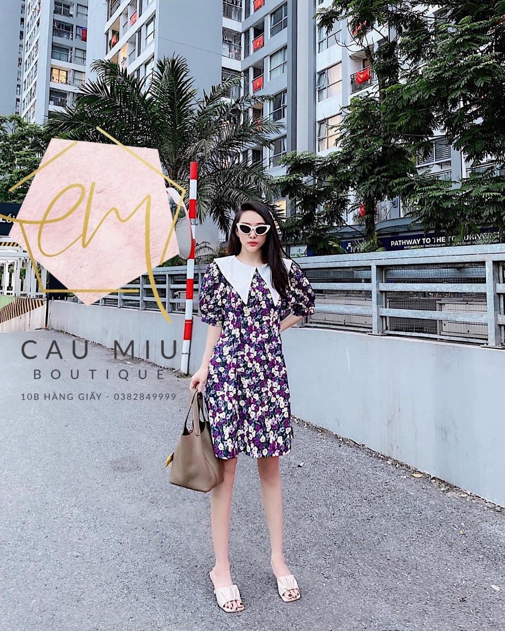 Váy Hoa Cổ Vạt Chéo tủ 8