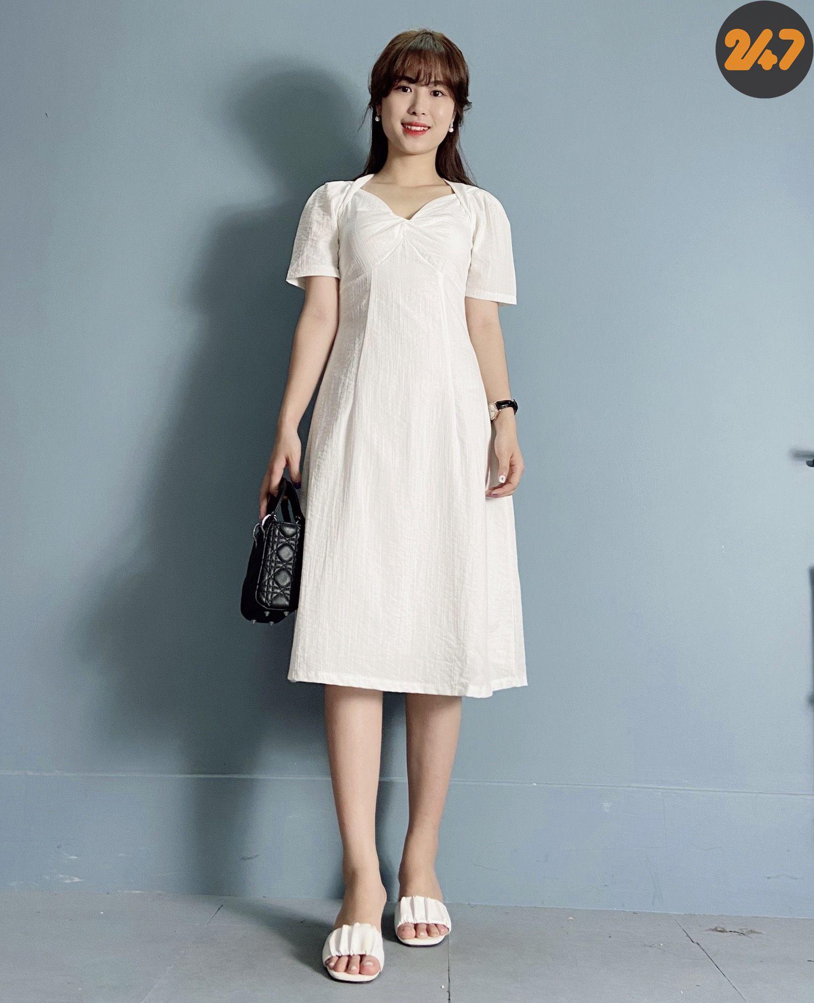 Váy Đũi Trắng - NB/T2/PTo/K2