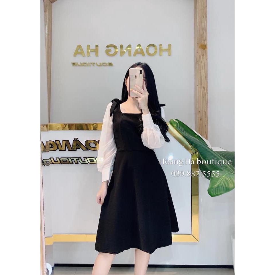 Váy Đen Tay Bồng NB/T2/Pto-K18