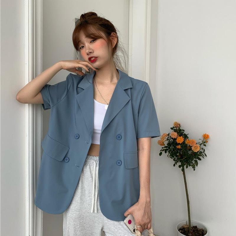 Áo Khoác Cổ Vest 2 Túi Giả NA/T2/PA/K2