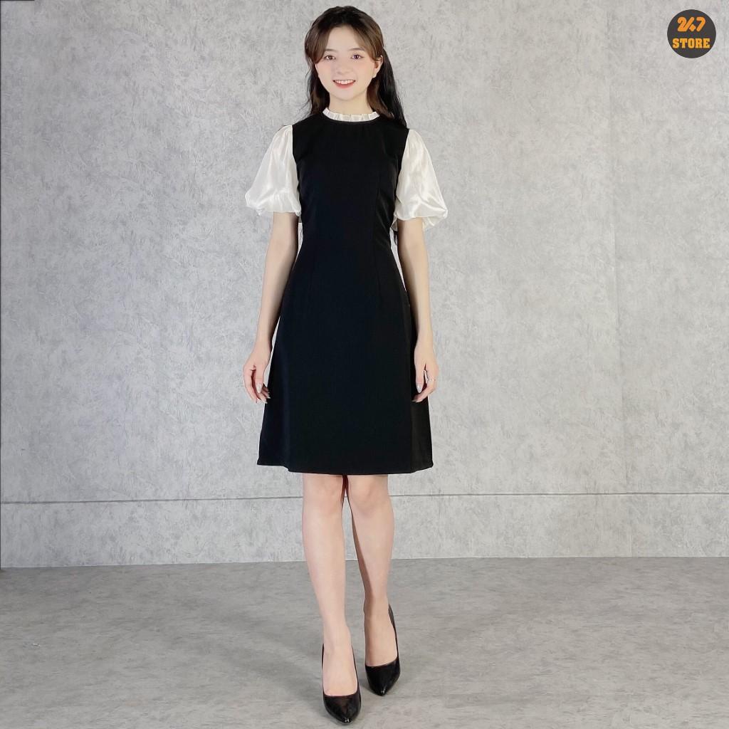 Váy Cổ Tròn Tay Bồng NB/T1/K29