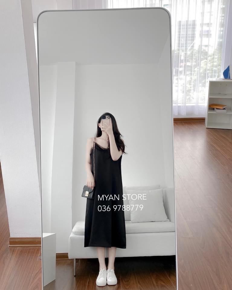 Váy 2 Dây Lụa Kiểu Phối Ren - NB/T1/K14