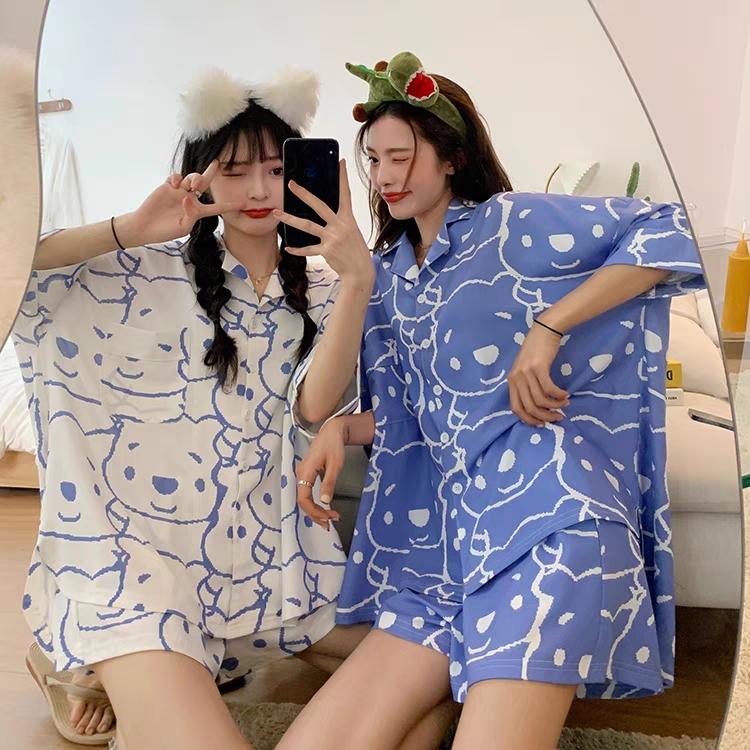Bộ Pijama Hình Mặt Gấu NB/T2/PB/K15