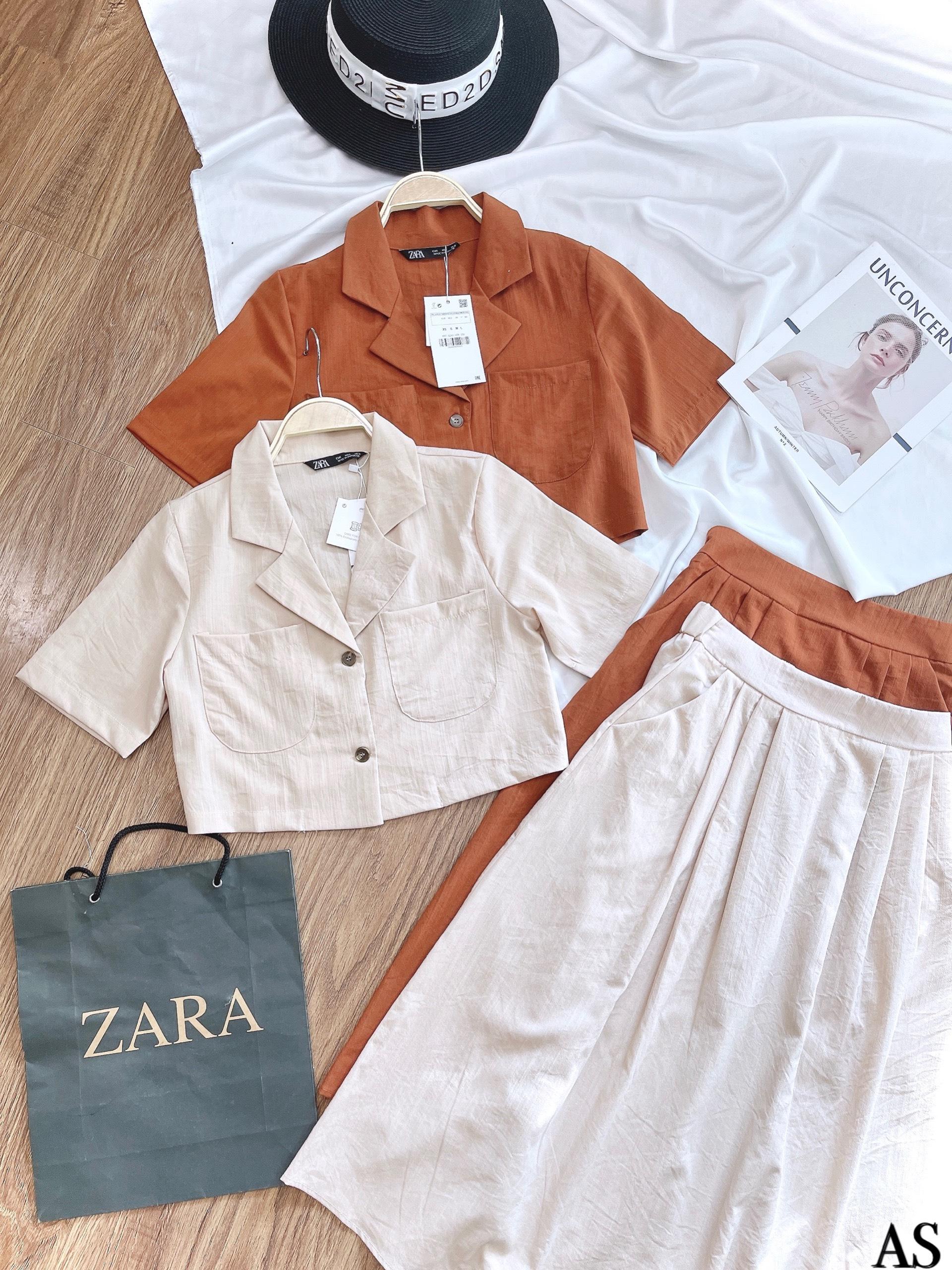 Set Áo Crotop Cổ Vest Kèm Chân Váy NA/T2/K12/T2