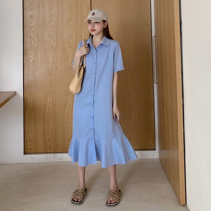 Váy Sơ Mi Đuôi Cá  V602 NA/T2/PB/K11