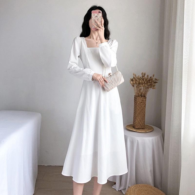 Váy Cổ Vuông Dài Tay NA/T2/PB/K17